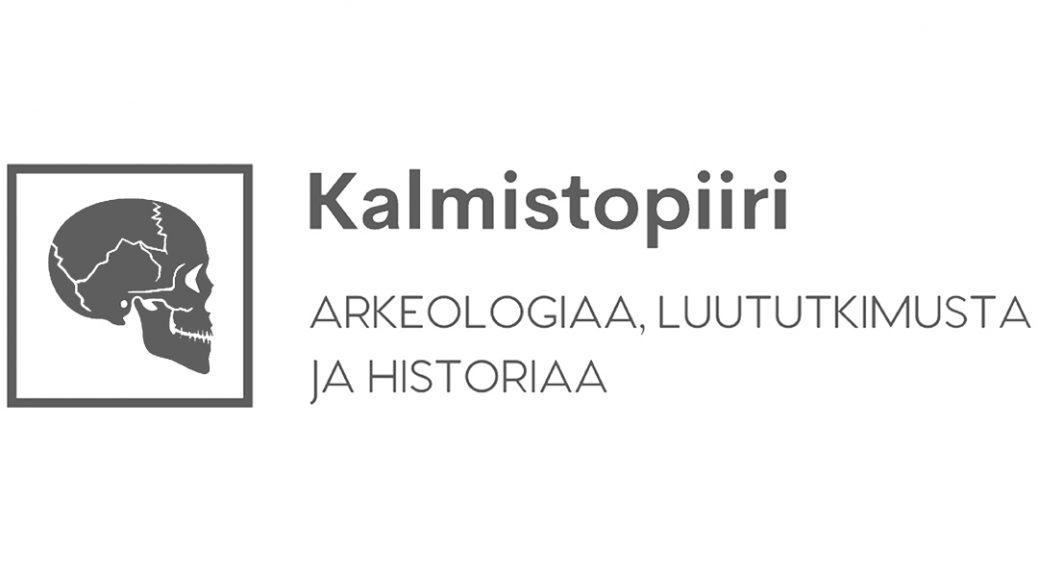 Logo: Kalmistopiiri. Arkeologiaa, luututkimusta ja historiaa.
